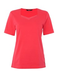 Tigi Short Sleeve Sweetheart Neck Top Pink