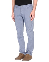 Solid Casual Pants Slate Blue