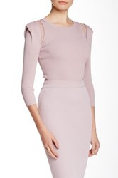 Stella And Jamie Yves Silk Trim Crop Top Pink
