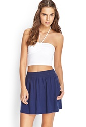 Forever 21 Soft Knit Skater Skirt Navy