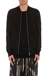 Rick Owens Drkshdw Men's Cotton And Leather Bomber Sweatshirt Black