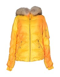 Jet Set Coats And Jackets Down Jackets Women Yellow