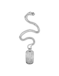 Just Cavalli Touch Signature Plate Pendant Necklace Silver