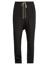 Rick Owens Slim Leg Cotton Trousers Black