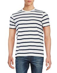 Brooks Brothers Striped Tee Blue