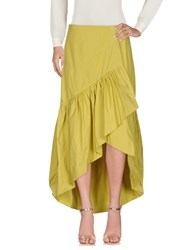 Dv Roma Knee Length Skirts Acid Green