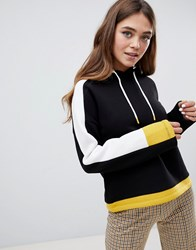 Pimkie Black Hoodie With Yellow Details