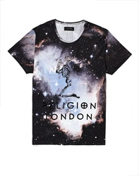 Religion T Shirt With Cosmic Print