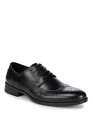 Saks Fifth Avenue Leather Blucher Perforated Dress Shoes Black