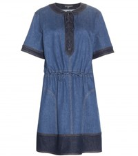 Alexander Mcqueen Denim Dress Blue