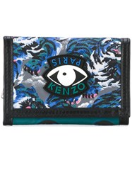Kenzo Flying Tiger Wallet Blue