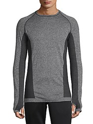 Hpe Cross X Seamless Raglan Sleeve Top Grey