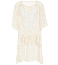 See By Chloe Floral Printed Crepe Dress White