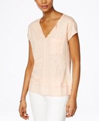 Sanctuary Short Sleeve Layered Top Peachy