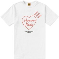 Human Made Red Line Heart Tee White