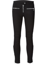 Dondup Zip Detail Skinny Jeans Black