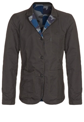 Duck And Cover Walder Light Jacket Navy Camo Brown