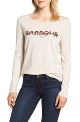 Barbour International Grandstand Logo Graphic Tee Oatmeal