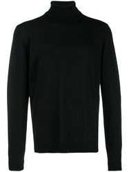 Roberto Collina Roll Neck Fitted Sweater Black