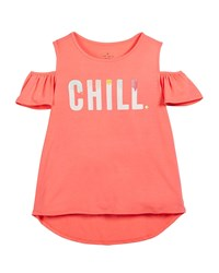 Kate Spade Chill Cold Shoulder Tee Size 7 14 Red