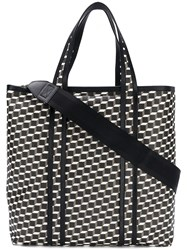 Pierre Hardy Canvas Cube Tote Bag Black