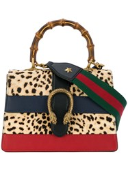 Gucci Dionysus Leopard Tote Wood Leather Pony Hair Nude Neutrals