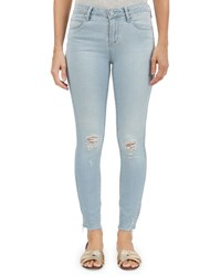 Articles Of Society Carly Skinny Cropped Distressed Jeans Blue