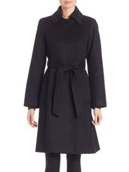 Sofia Cashmere Wool And Wrap Coat Black