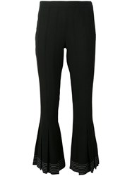 Marco De Vincenzo Pleated Hem Pants Black
