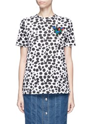 Etre Cecile Collage Dog Face Cheetah Print T Shirt Multi Colour