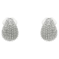 Monet Textured Mini Clip On Earrings Silver