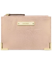 Nine West Scale Up Card Case Wallet Peach Rose