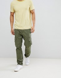United Colors Of Benetton Cargo Trousers In Khaki Green