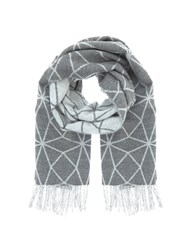 Mint Velvet Granite Geometric Blankt Scarf Dark Grey