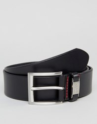 Hugo By Boss Leather Connio Belt In Black Black