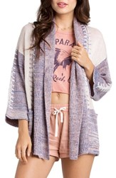 Women's Billabong 'By Your Side' Marled Open Front Cardigan Blue