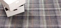 Chilewich Latex Plaid Floormat Grey Small 1 Ft 11 In X 3 Ft Gray