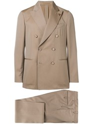 Gabriele Pasini Two Piece Formal Suit Neutrals