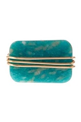 Leila Wire Wrapped Amazonite Ring Blue