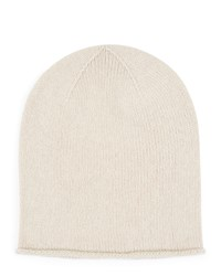 Jaeger Cashmere Knitted Hat Neutral