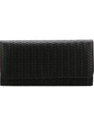 Zanellato Wavy Textured Flap Wallet Black