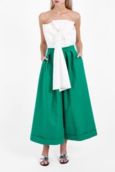 Delpozo Women S Long Pleated Culottes Boutique1 Green
