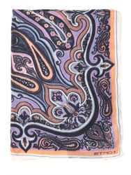 Etro Bombay Print Cashmere And Silk Blend Scarf
