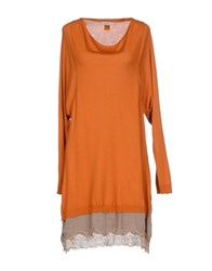 Guardaroba Dresses Short Dresses Women Orange