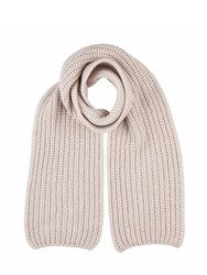 Johnstons Of Elgin Cashmere Chunky Luxe Rib Scarf Neutral