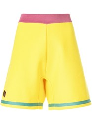 Marni Embroidered A Line Track Shorts Yellow And Orange