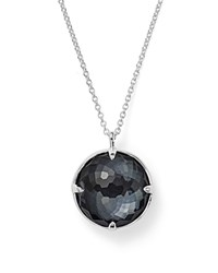Ippolita Sterling Silver Rock Candy Doublet Pendant Necklace In Clear Quartz And Hematite 31 Black Silver