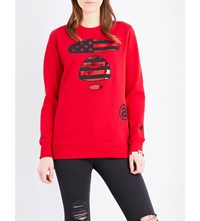 Aape By A Bathing Ape Foil Print Embroidered Sweatshirt