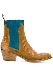 Sartore Contrast Ankle Boots Neutrals