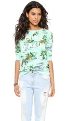 Zoe Karssen Paradise Long Sleeve Top Soothing Sea